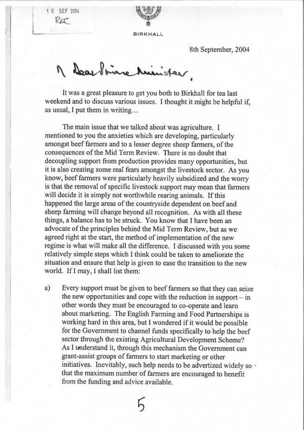 Charles letter